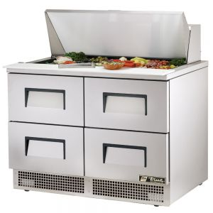 Food Prep Table, Four Drawer, 48 Inches