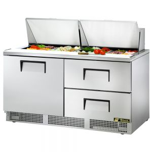 Food Prep Table, One Door, Two Drawer, 64 Inches