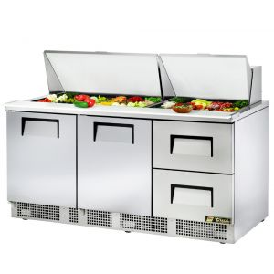 Food Prep Table, Two Door, Two Drawer, 72 Inches