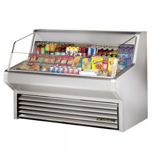 Horizontal Air Curtain Refrigerated Merchandiser, 60 Inch, Stainless Steel