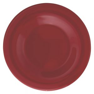 Melamine Wide Rim Plate - Color Pure Red