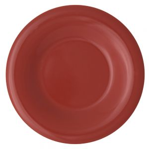 Melamine Wide Rim Plate - Color Orange