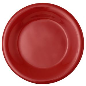 Melamine Wide Rim Plate - Color Red