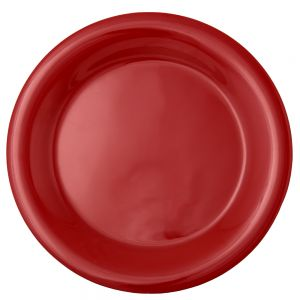 10 1/2″ Melamine Narrow Rim Plate - Color Pure Red (12/Case)