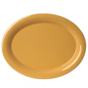 """13 1/2"""" Melamine Oval Platter - Color Yellow"""