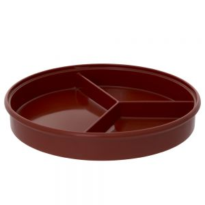 8 1/4 Inch Melamine Divided Server - Nu Stone Red