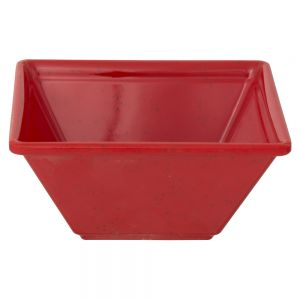 8 Oz Melamine Square Bowl - Passion Red
