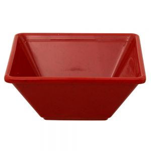 11 Oz Melamine Square Bowl - Passion Red