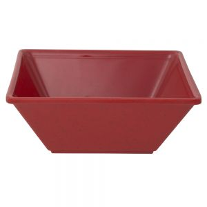 23 Oz Melamine Square Serving Bowl - Passion Red