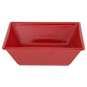 52 Oz Melamine Square Serving Bowl - Passion Red