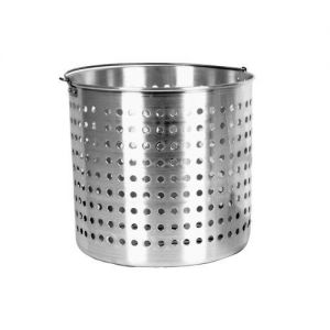 Steamer Basket, 80 Qt., Fits MRS50530 Stock Pot, Aluminum