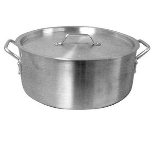 Brazier with Cover, 20 Qt., Heavy Duty, Aluminum