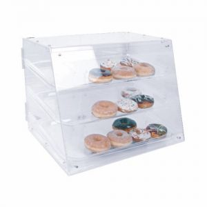 Acrylic Pastry Display, 3 Tray, 21 x 17-1/4 x 16-1/2 Inch