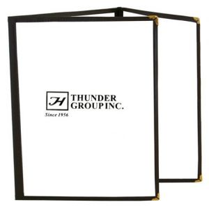 Menu Covers, Triple Fold, 8-1/2 x 11, Brown, Case of 10 Each