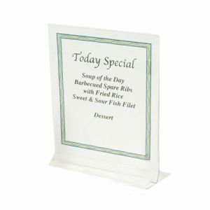 Table Card Holders, 8-1/2 x 11 Inch, Plastic, Case of 6 Each