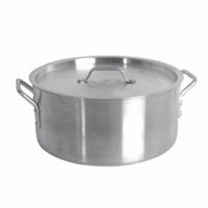 Brazier w/Cover, 20 Qt., Induction Ready, Stainless