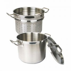 Pasta Cooker Set, 20 Qt., Induction Ready, Stainless