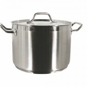 Stock Pot w/Cover, 8 Qt., Induction Ready, Stainless