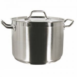 Stock Pot w/Cover, 12 Qt., Induction Ready, Stainless