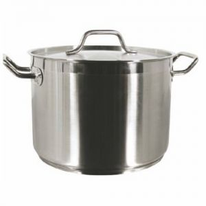 Stock Pot w/Cover, 16 Qt., Induction Ready, Stainless