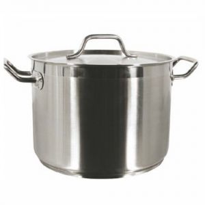 Stock Pot w/Cover, 20 Qt., Induction Ready, Stainless