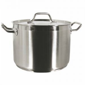 Stock Pot w/Cover, 24 Qt., Induction Ready, Stainless