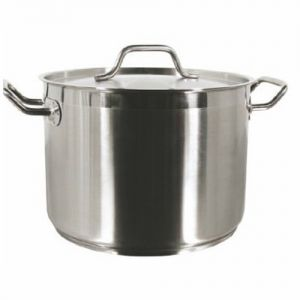 Stock Pot w/Cover, 32 Qt., Induction Ready, Stainless