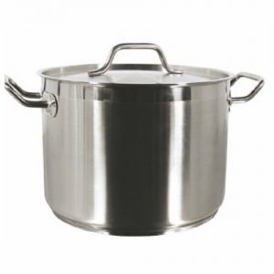 Stock Pot w/Cover, 40 Qt., Induction Ready, Stainless