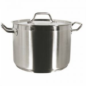 Stock Pot w/Cover, 60 Qt., Induction Ready, Stainless