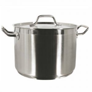 Stock Pot w/Cover, 80 Qt., Induction Ready, Stainless