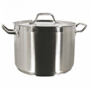 Stock Pot w/Cover, 100 Qt., Induction Ready, Stainless