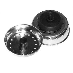 Sink Strainer, 3 Inch with 2-1/2 Inch Stopper, Case of 12 Each