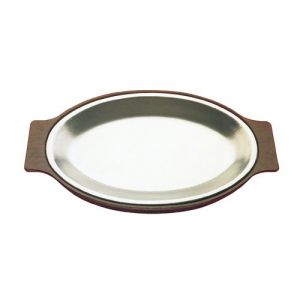 Dinner Platter, 8 Inch X 12 Inch, Standard Oval, Solid Cast Aluminum, Burnished Finish, Case of 12 E