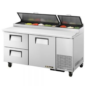 Pizza Prep Table, 2 Drawers, 67-1/4 Inch Wide