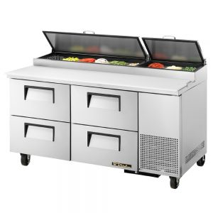 Pizza Prep Table, 4 Drawers, 67-1/4 Inch Wide
