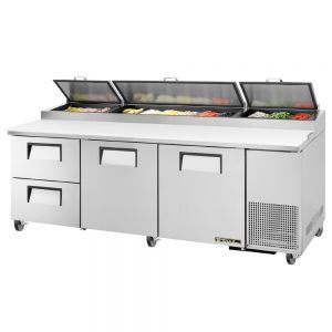 Pizza Prep Table, 1 Door, 2 Drawer, 93 Inches