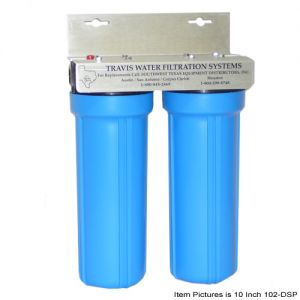 Dual Water Filter System, 20 Inch, for Flaker Ice Makers