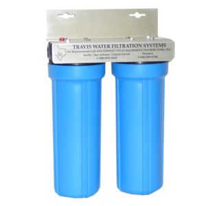 Dual Water Filter System, 10 Inch, for Flaker Ice Makers
