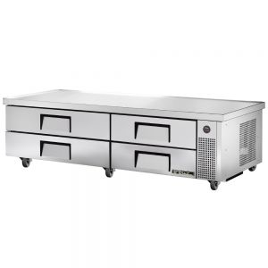 Refrigerated Chef Base, 4 Drawers, 82 Inch Base, 84 Inch Length