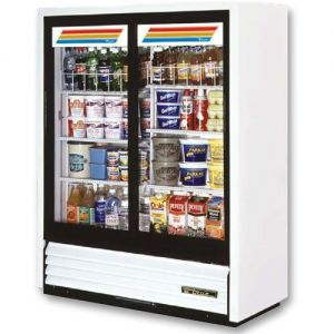 Convenience Store Cooler, Two Slide Glass Doors, 19 Cu. Ft.