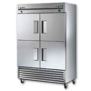 Commercial Dual Temp Refrigerator/Freezer, 4 Door, 46 Cu. Ft., S/S