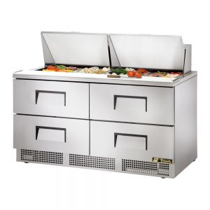 Food Prep Table, Four Drawer, 64 Inches