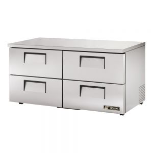 Low Profile Undercounter Refrigerator, 4 Drawer, 60 Inches