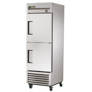 Commercial Refrigerator, Stainless In and Out, 2 Half Doors, 23 Cu. Ft.