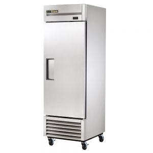 Commercial Refrigerator, Stainless In and Out, 1 Door, 23 Cu. Ft.