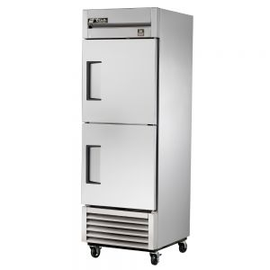 Commercial Freezer, Stainless In and Out, 2 Half Doors, 23 Cu. Ft.