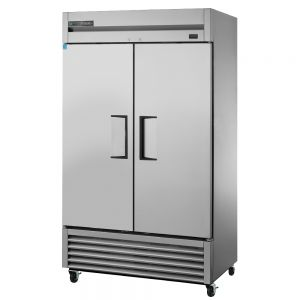 Stainless Steel Two Section Reach In Refrigerator, 43 Cu Ft