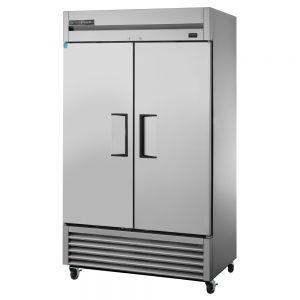 Stainless Steel Two Section Reach In Freezer, 43 Cu Ft