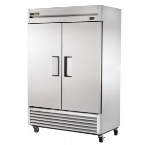 Commercial Refrigerator, Stainless In and Out, 2 Door, 49 Cu. Ft.