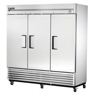 Commercial Refrigerator, Stainless In and Out, 3 Door, 72 Cu. Ft.